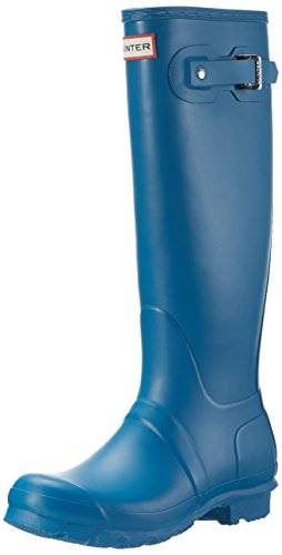 Hunter Original Tall Damen Langschaft Stiefel Blau (Blue/Rob)