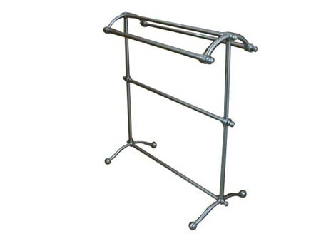 Kingston Brass CC2298 Pedestal Towel Rack, Satin Nickel by Kingston Brass