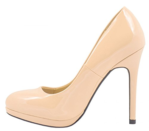 Elara - Botas plisadas Mujer Beige Fashion