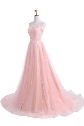 Ivydressing Abendkleider Neu Blau Hochwertig Lang Rosa Spitze Partykleider Ballkleider Tuell XXHpq