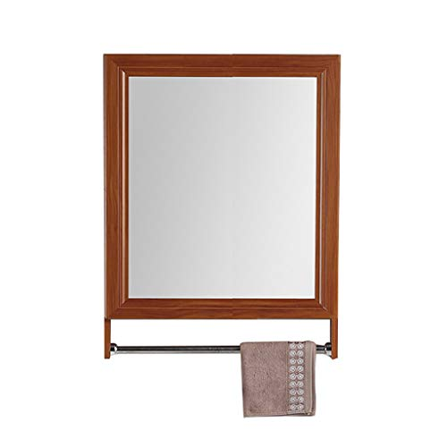 Peaceip US 500120700mm Aluminum Alloy Bathroom 1 Door Mirror Cabinet with Towel -