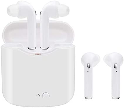 Wireless Earbuds Bluetooth Headphones Wireless Headphones Sweatproof Sports with Charging Case Mini Size HD Stereo in-Ear Noise Canceling Earphones with Mic for iOS Android Smart Phone