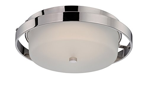 - Nuvo Lighting 62/182 Cirque LED One Light Flush 20 Watt 1420 Lumens Soft White 2700K KolourOne LED Technology Frosted Glass Polished Nickel Fixture