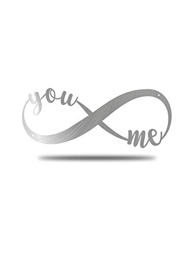You and Me Infinity Symbol – Steel Roots Decor – Perfect Anniversary, Wedding and Couples Gift – Metal Wall Art Laser…