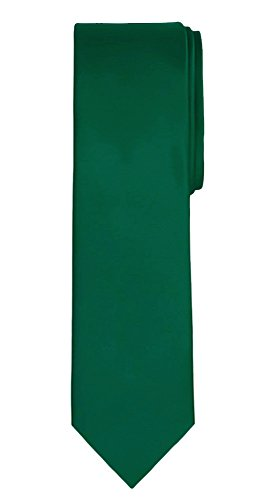 - Jacob Alexander Solid Color Men's Regular Tie - Forest Green