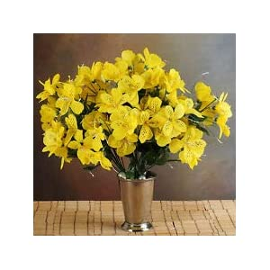 6 Yellow Bushes Silk Mini PRIMROSES Wedding Flowers Bouquets Decorations on Sale 40