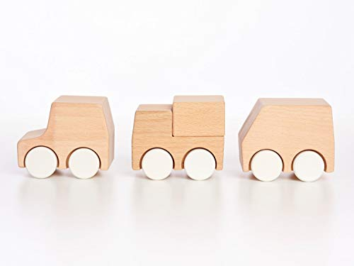 Tinkerton New Vehicles - Wood Car, Truck, Van Baby Toy - 2.25