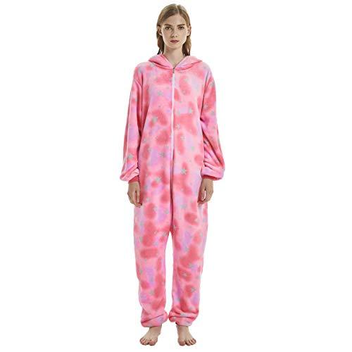 Fleece Onesie Pajamas for Women Adult Cartoon Animal Halloween Christmas Cosplay Onepiece Costume ()