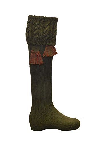 Walker & Hawkes - Chaussettes Dalkeith pour homme - chasse/campagne - garters assortis - tailles M-L 3