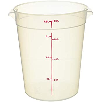 Camwear 8 qt Round Polypropylene Food Storage Container Cambro RFS8PP190