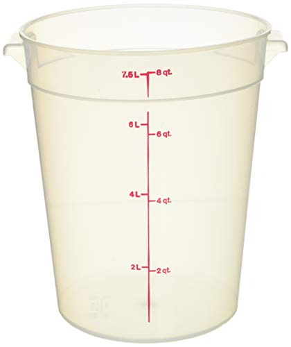 - Cambro (RFS8PP190) 8 qt Round Polypropylene Food Storage Container - Camwear