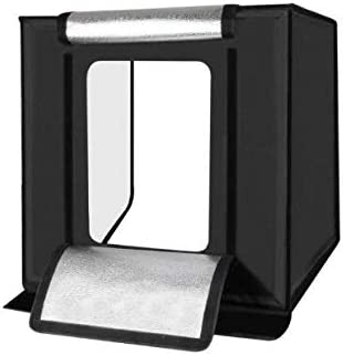 PULUZ Photo Studio Light Box Portable 60 x 60 x 60 cm Light Tent LED lights mini Photography Studio Tent Kit with 6 Removable Backdrop colors