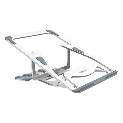 Big Save! Adjustable Laptop Stand, Megainvo Foldable Laptop Stand Portable MacBook Riser Aluminum Al...