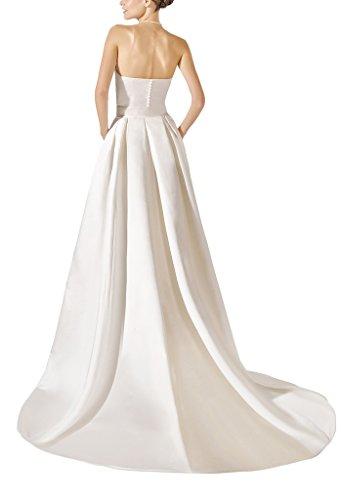 GEORGE BRIDE - Vestido de novia - trapecio - Sin mangas - Mujer blanco