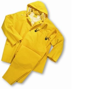 This 3 Piece Rainsuit Is Constructed From .35Mm Pvc On Polyester For Light To... (Piece Industrial Rainsuit 3)