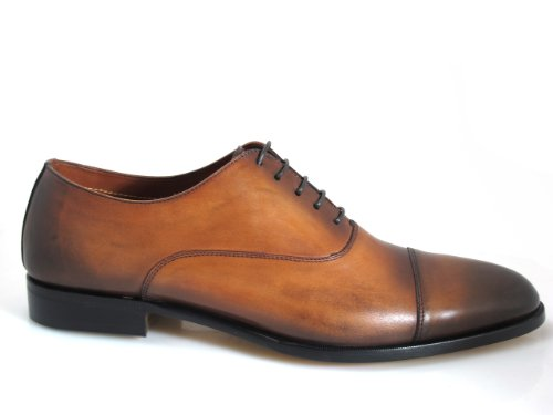 Doucals Italian Mens 41196 Lace Up Dressy Shoes Marrone Chiaro