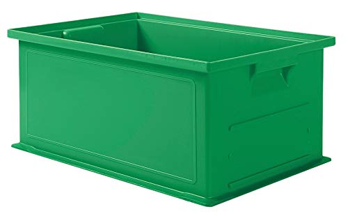 Solid Wall Stacking Cntner, 19x13x8, Green