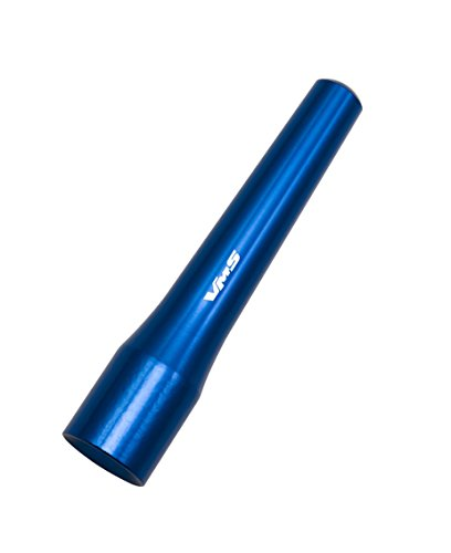 "2009 Lancer Ralliart - 3"" inch P STYLE Short CNC Machined Billet Aluminum Antenna in BLUE for MITSUBISHI LANCER Evo Evolution"