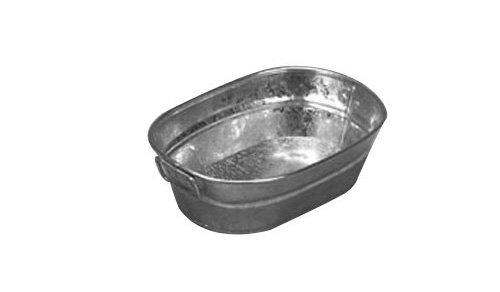 American Metalcraft MTUB69 Natural Galvanized Tub with Side Handle, 9-Inch