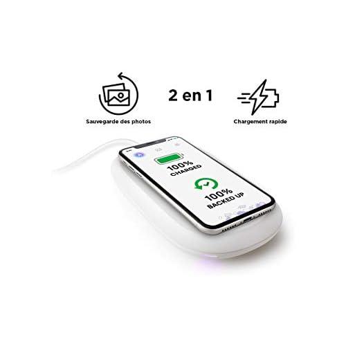 chollos oferta descuentos barato SanDisk iXpand Cargador inalámbrico rápido de 10 W con 256 GB de Capacidad para Copia de Seguridad de fotografías en teléfonos compatibles con Qi