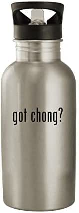 got chong? - Stainless Steel 20oz Water Bottle, Silver