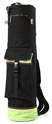Heathyoga Yoga Mat Bag Full-Zip Exercise Yoga Mat Carry Bag - Mufti-Functional Inner/Outer Storage Pockets- Adjustable Shoulder Strap - 28