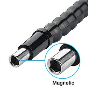 Maexus Flexible Drill Bit Extension - Magnetic Hex Soft Shaft, Flexible Screwdriver Extension for Connect Drive Shaft Tip Drill Bit Kit Adaptor (2 Pcs)