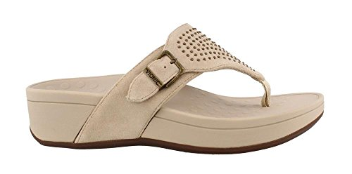 Vionic Women's, Pacific Capitola Thong Style Sandals Taupe 8 M by Vionic