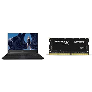 "GIGABYTE Aero 15X v8-BK4 15"" Ultra Slim Gaming Laptop and Kingston Technology HyperX Impact 16GB 2666MHz DDR4 CL15 260-Pin SODIMM Laptop Memory"