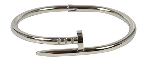 Nail Bracelet Stainless Steel Oval Shape with Easy Open Hinge