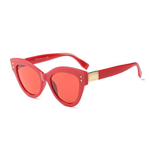 Rot Frauen Sonnenbrille Gradienten Sonnenbrille Schwarz Sobredimensionado Katzenaugen C3 Weiß KLXEB C2 Marke Designer Retro xz5qwnU4S