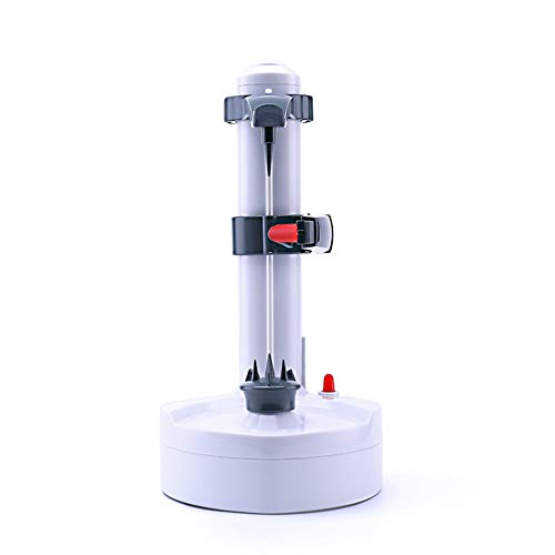 Electric Peeler, Electric Potato Peeler, Rotato Express, peeling machine fruit and vegetables, Automatic Rotating Fruits & Vegetables Cutter Apple Paring Machine - Kitchen Peeling Tool(White)
