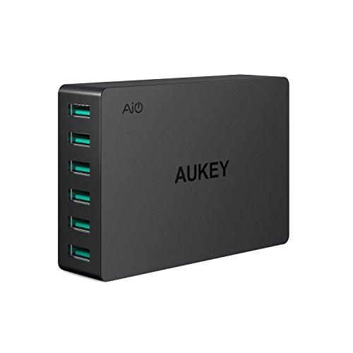 AUKEY USB Ladegerät 6 Ports 60W USB Adapter mit AiPower für iPhone XS/XS...
