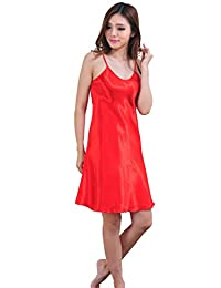 DF-deals Women's Nightshirts Satin Chemises Sexy Mini Slip Pajamas Sleepwear