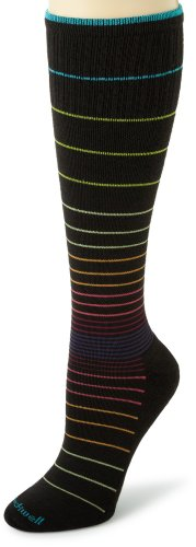 Sockwell Women's Circulator Compression Socks, Medium/Large, Black Stripe