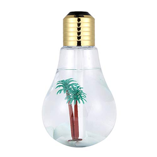 Bulb Humidifier , LED Nightlight, Creative USB Mini Humidifier Mute (Golden) ()