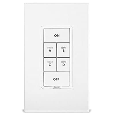 Insteon 2487S KeypadLinc 6Button Scene Control Keypad with On/Off Switch, White