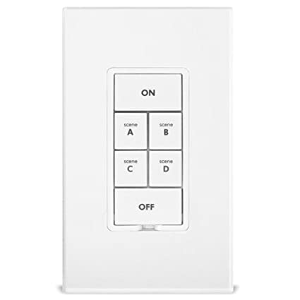Insteon 2487S Keypadlinc 6 Button Scene Control Keypad with On/Off Switch,  White