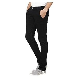 Urbano Fashion Men's Black Slim Fit Stretch Jeans