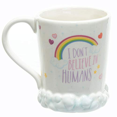 Rainbow Microwave - Magical 3D Microwave Hand Painted Rainbow Unicorn Mug,Owl Mug for Christmas Gifts, Birthday Gifts, Party Favors (I Don't Believe)