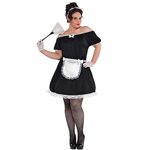 Adult French Maid Costume Plus Size | 3 Ct.]()