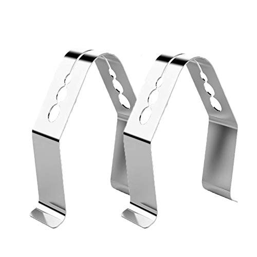 Universal Style BBQ Meat Thermometer Probe Clip for Ambient Temperature Readings for BBQ Smokers Grill Oven (Set of 2)