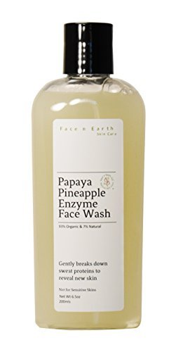 Papaya & Pineapple Enzyme Cleanser Organic - Vegan Chemical Toxic Free