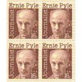 Journalist Ernie Pyle Set of 4 x 16 Cent
