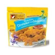 Foster Farms Dinosaur Shaped Chicken Breast Nugget - 8 per case.