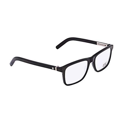 Eyeglasses Mont Blanc MB 0737 001 Black/Clear - Blanc Mens Eyeglasses Mont