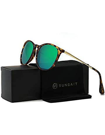 4a332377c1 SUNGAIT Vintage Round Sunglasses for Women Classic Retro Designer Style