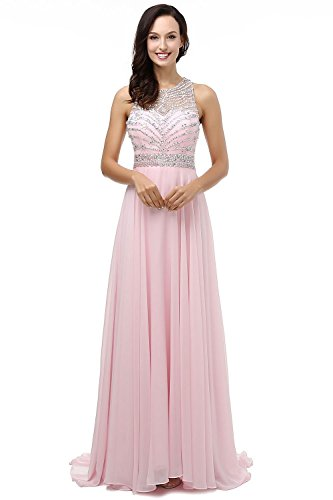 Dress Gown Wedding Ball Cocktail Bridesmaid Pink Long Formal LIYIZO Prom Evening Party Women qwIPn16