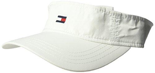 Tommy Hilfiger Men's Flag Nylon Visor, Classic White, O/S