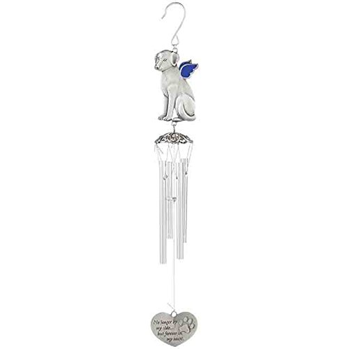Carson Dog Pewter Outdoor Decorative Wind Chimes